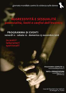 Locandina giornata contro la violenza sulle donne